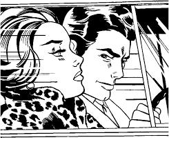 Anti Stress Kleurplaten Roy Lichtenstein In De Auto 1