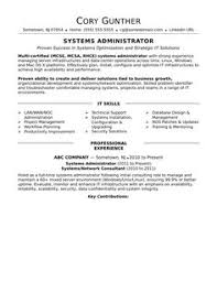 It System Administrator Resume Resume Samples Pinterest Resume