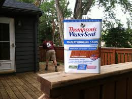 stain a deck with thompson s waterseal