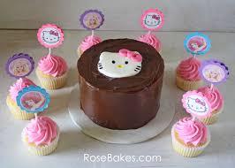 Cupcakes Barbie Design Hello Kitty Cake Cupcakes With Hello Kitty Barbie The