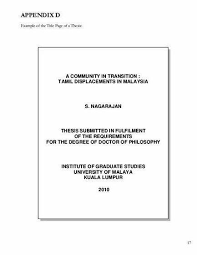 Thesis Proposal Sample Apa Cover Page