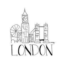 <b>Paris</b>, <b>London</b> And <b>Roma</b> Lettering, <b>Famous</b> Landmarks Eiffel Tower ...