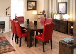 red dining room chairs oak dining table and red leather chairs dining chairs design
