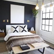 dark blue bedroom walls. Modern Bedroom With A Dark Accent Wall Blue Walls V