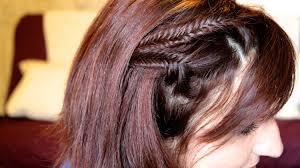 Comment Faire Une Tresse Pi Quand On A Les Cheveux Courts Youtube