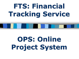 Financial Tracking Fts Financial Tracking Service Ops Online Project System