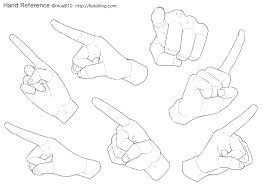 Moa On Twitter お知らせトレスokな手のイラスト資料集にペンを