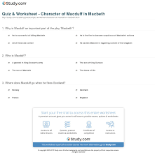 quiz worksheet character of macduff in macbeth com print macduff in macbeth traits character analysis monologue worksheet
