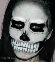 black and white cute little zombie lady a inspired skull makeup tutorial