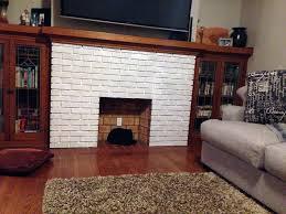 system whitewash brick fireplace