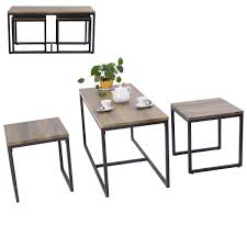 Living Room Furniture Pieces 3 Pieces Wood Coffee End Table Set Living Room Furniture Sets