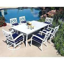 white outdoor patio furniture. white outdoor dining table 7pc aluminum amp chairs patio furniture d