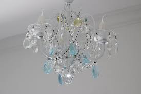 ceiling fan with crystal chandelier light kit lights