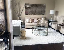 fur coffee table my formal living room with copper accents and white faux fur rug farah
