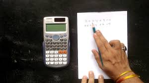 how to solve the linear equations with two variables using calculator casio fx 991es plus