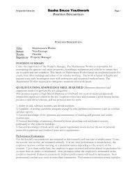 Download Maintenance Worker Resume Haadyaooverbayresort Com