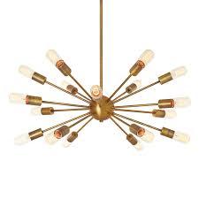 iconic lighting. 18-Light Aged Brass Sputnik Chandelier Iconic Lighting