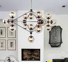 4 of 10 21 light modern modo led glass ball chandelier ceiling light lobby pendant lamp