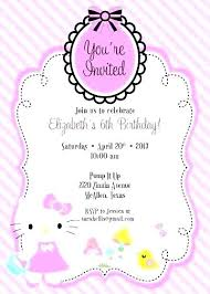 Printable Hello Kitty Invitations Personalized Hello Kitty Template Printable