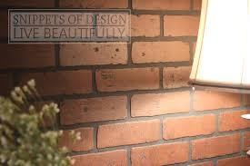 diy brick wall snippets of design