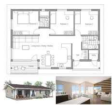 Small House Plan Affordable To Build Three Bedrooms Covered Affordable House Plans To Build