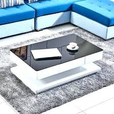 range coffee table high gloss white coffee table living room high gloss white coffee table w 2 drawers black tempered glass top round high gloss white