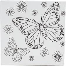 picture of a butterfly to colour. Interesting Butterfly Impressive Butterfly To Colour In Mini Canvas Hobbycraft And Picture Of A