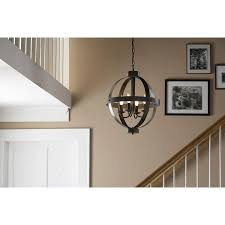 this allen roth rustic pendant light is the perfect inspiration piece for jay and nina s