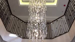 3 8m custom bespoke brass branch twig tree chandelier with glass drops by first class lighting