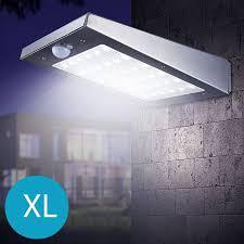 The White Series Draadloze Led Wandlamp Met Bewegingssensor Op Zonne Energie Extra Large Rvs