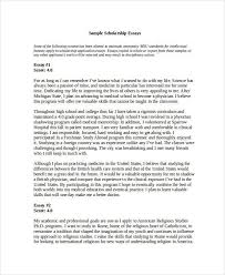 college scholarship essay example scholarship letter format  16 essay examples in doc scholarship essay example essay for scholarship application examples college scholarship