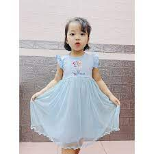 Váy đầm công chúa Elsa cực xinh cho bé gái 1-5 tuổi chất cotton phù hợp cho  bé mặc thời trang hè 2021 giá cạnh tranh