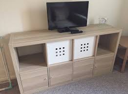 free delivery ikea kallax white stained oak shelving unit great condition