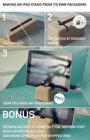 diy ipad stand out of its own packaging materials