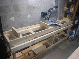 portable chop saw table. workshop miter saw stand portable chop table