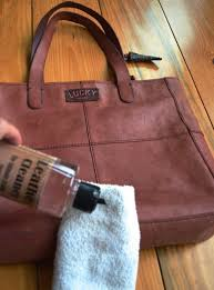 note that when wet with the cleaner the leather will look darker but will dry to the natural color