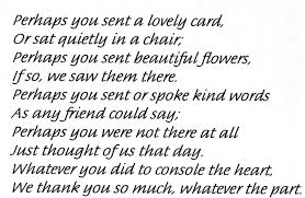 Thank You Quotes For Loss Of Loved One