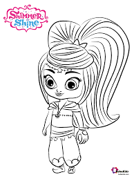 Shimmer and shine colouring book for children. Leah Genie From Shimmer And Shine Coloring Page Collection Of Cartoon Coloring Pages For Teenage Printab Coloring Pages Coloring Pages To Print Coloring Books