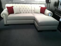 tufted couch engaging tufted sofa with chaise design ideas new at wall ideas small room