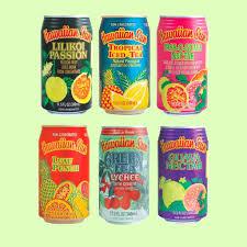 hawaiian sun canned drinks six flavors punch guava pion lychee tea pog
