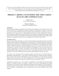 Pdf Project Arson Uncovering The True Arson Rate In The