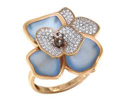 "Золотое кольцо ""Эйфория"" с бриллиантами и <b>топазами Swiss</b> ..."