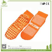 Sky Zone Sock Size Chart Wholesale Custom Ankle Socks Anti Slip Trampoline Grip Socks