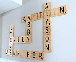 scrabble letter wall decor carved scrabble tiles wall art wall letters family anniversary scrabble wall art family room decor home decor scrabble letters