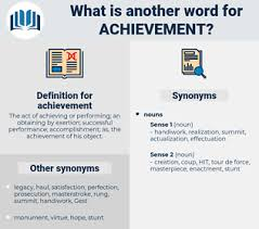 Synonyms For Achievement Antonyms For Achievement
