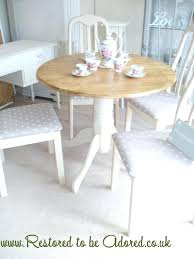 shabby chic dining table set round
