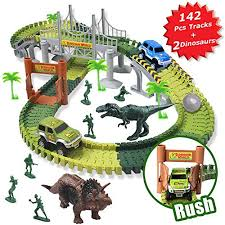 MIECOO Slot Car Race Track Sets Jurassic World Dinosaur Toys Create a Road with 142 Best Christmas Gifts for A 4 Year Old Boy: Amazon.com