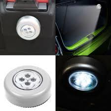 Push Button Battery Lights Details About 4 Led Touch Push Button Light Self Stick Eco Long Battery Life Down Spot Lights