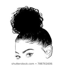 Black Girls With Black Natural Hair Stock Illustrations Images