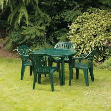 garden plastic tables chairs